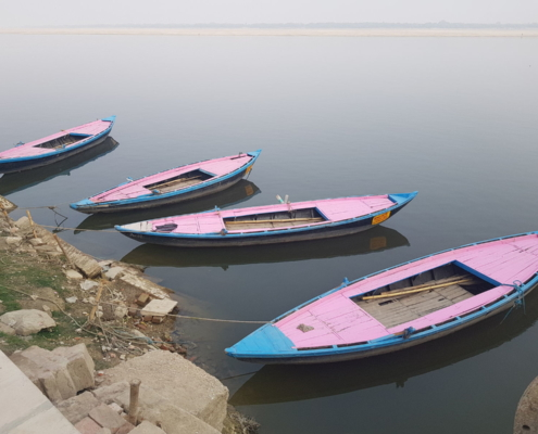 Ganges Pink Boats